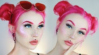 Color Freckles Splatter Makeup Tutorial | Evelina Forsell