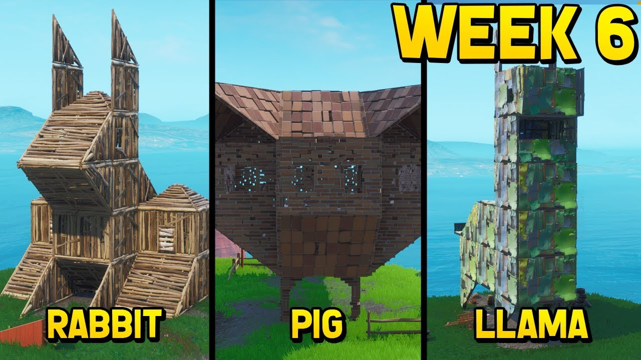 Visit Wooden Rabbit Stone Pig Metal Llama Fortnite Fortnite Free