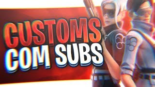 🔴 Fortnite - CUSTOMS COM INSCRITOS ( Late Game & Tryhard ) E RUMO AOS 90 MIL INSCRITOS!