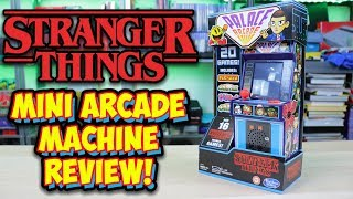 Stranger Things Mini Arcade Machine With 20 Games - Season 3 Merchandise Review!