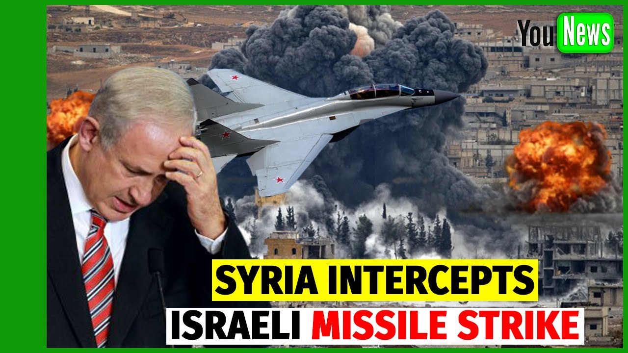 Syria intercepts Israeli missile strike over Damascus.