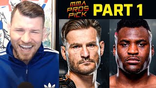 MMA Pros Pick Stipe Miocic vs Francis Ngannou 2 Part 1 I UFC 260