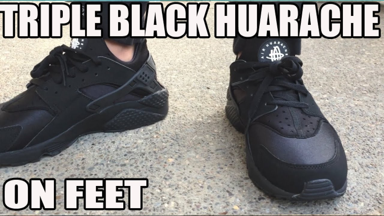Nike Huarache Black On Feet