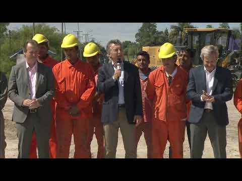 Bordet y Macri sobre el Plan Hábitat en San Benito