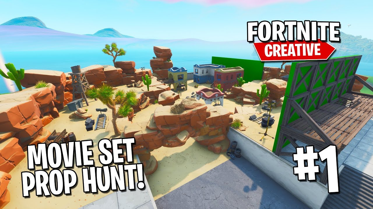 Building a PROP HUNT map in Fortnite #1 [Featured Creative Builder]