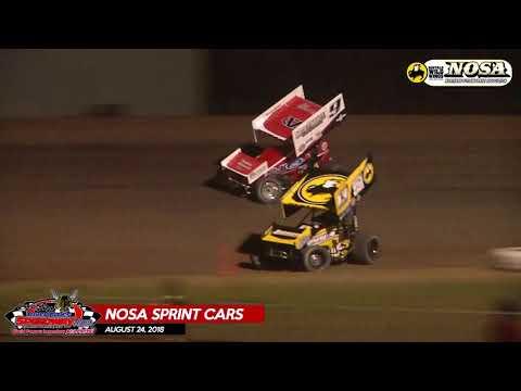 08.24.18 NOSA Sprints - River Cities Speedway