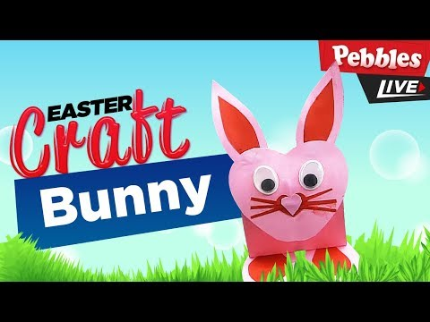 Easy Easter Paper Bunny | DIY Activities for Easter | How to Make Paper Ball Bunny