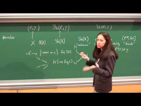Olivia Caramello - 1/4 Introduction to categorical logic, classifying toposes...