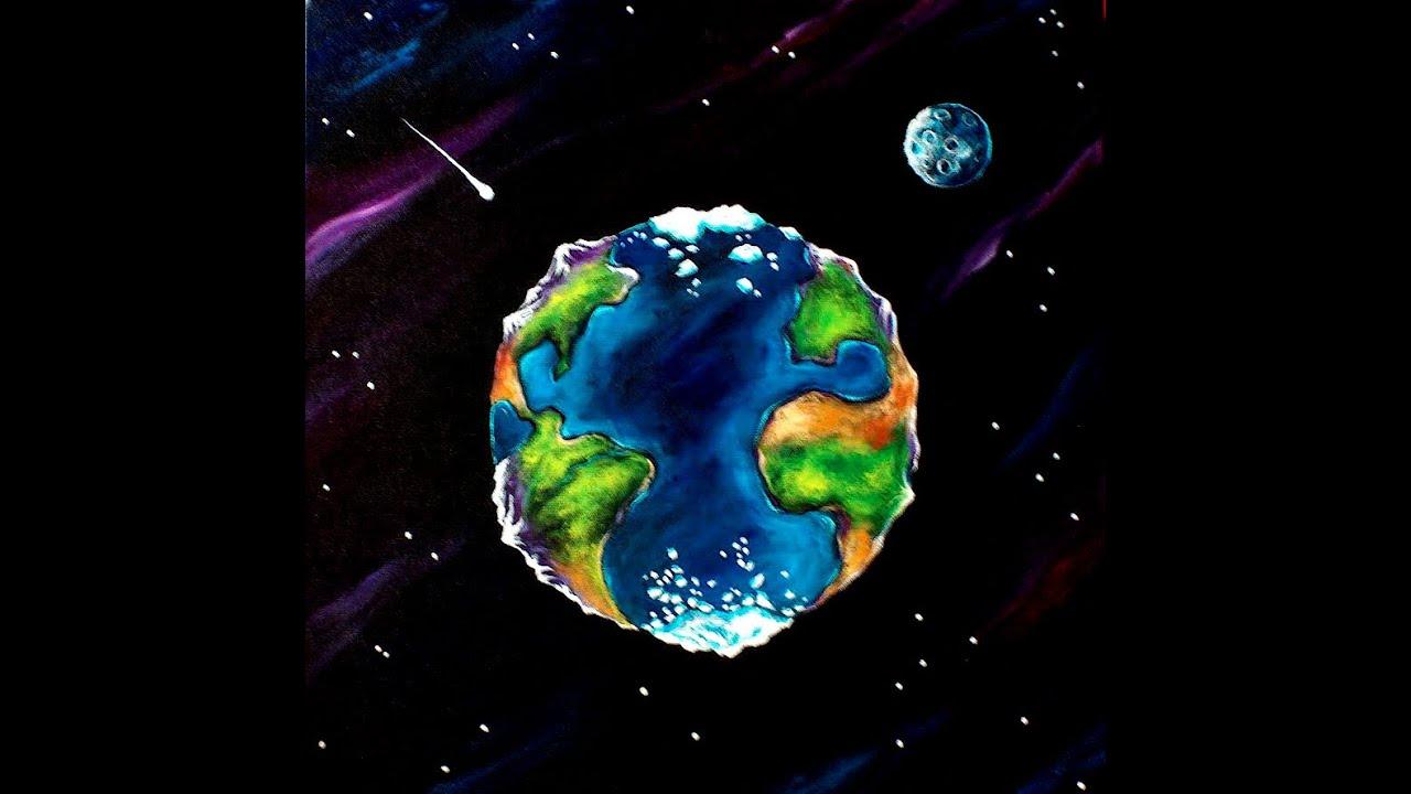 World Map Painting Stock Photo - Image: 23720560