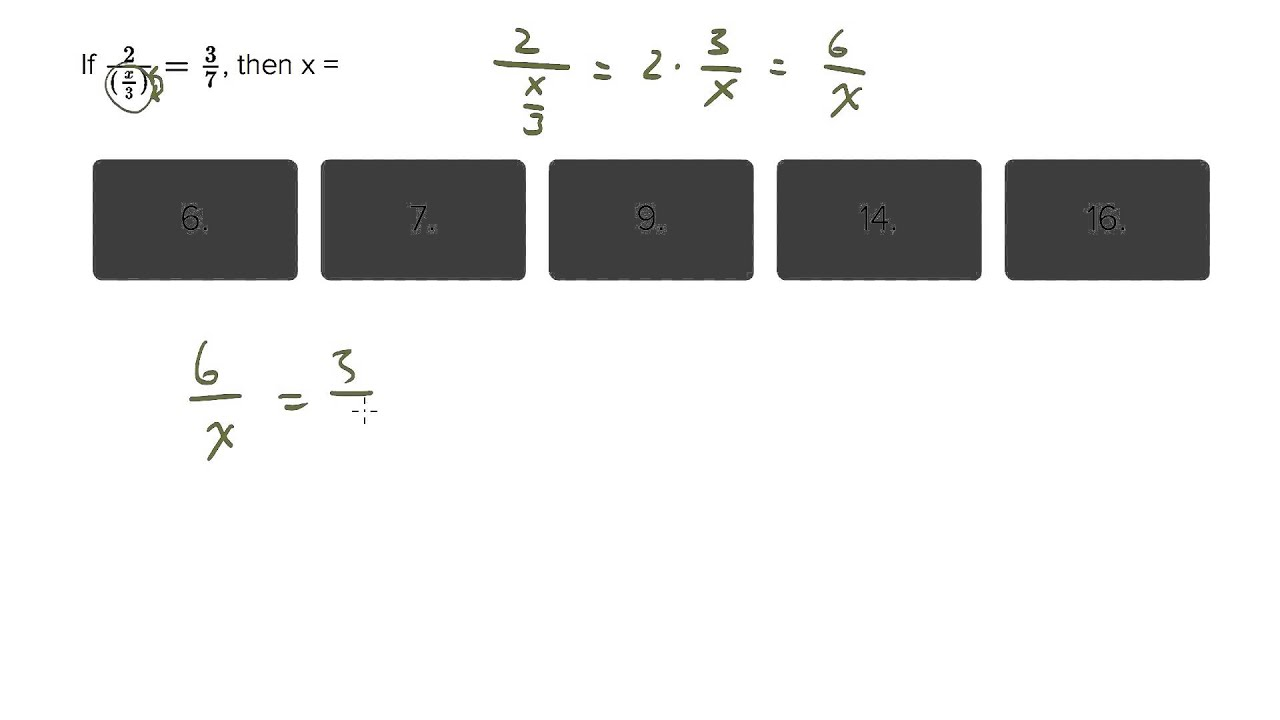 6417 Algebraic Simplification Solving For X As The Numerator In The  Denominator