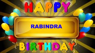 Rabindra  Card Tarjeta - Happy Birthday