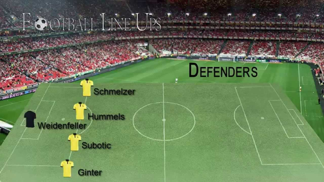 Ingolstadt 0 4 Borussia Dortmund Dortmund Lineup