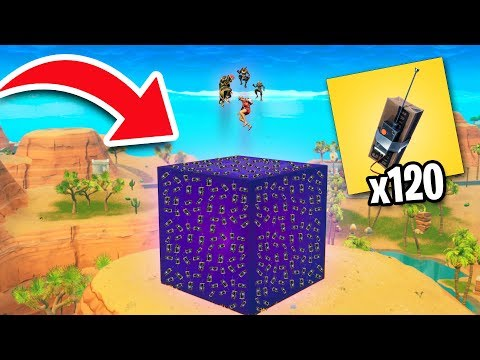 PUTTING MAX C4 ON THE CUBE! | Fortnite Battle Royale