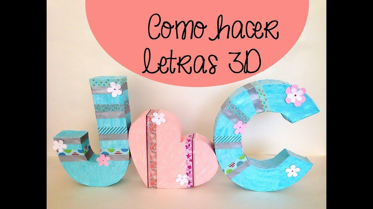 Cómo hacer letras 3D YouTube