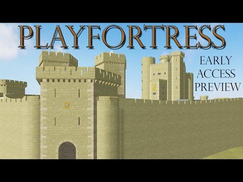 Simulated Castle Construction - PlayFortress - VERY Early Access Review