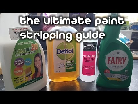 How to Strip Paint from Miniatures with Household Products