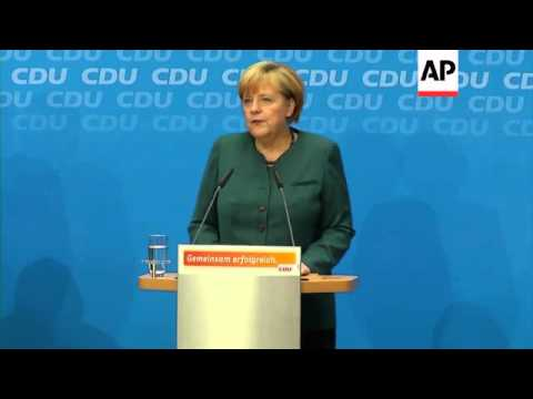 Merkel contacts Social Democrat leader about forming coalition, but talks to wait for several days