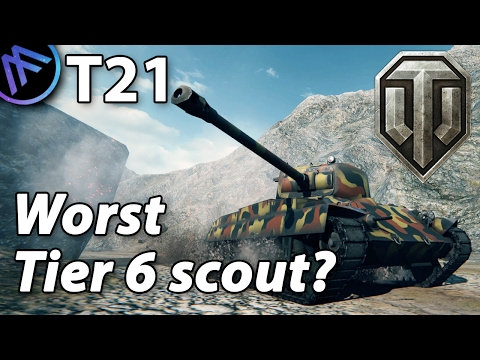 ^^| T21 - The worst tier 6 scout? (World of Tanks Gameplay.)