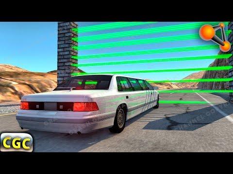 Laser wall divides cars into parts BeamNG Drive part 2