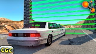 Laser wall divides cars into parts BeamNG Drive part 2