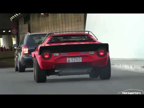 Rare 1973 Lancia Stratos Hf Driving In Monaco Accelerations Youtube