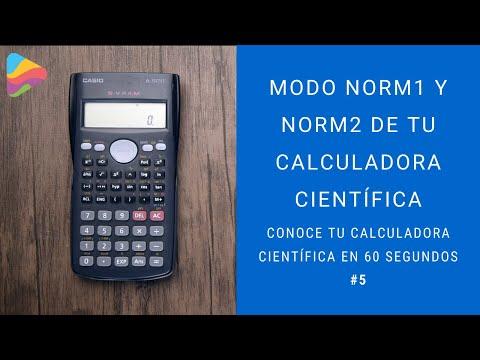 Modo Norm1 y Norm2 de tu calculadora científica (Conoce tu calculadora científica en 60 segundos #5)