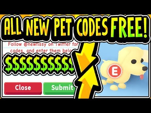 All Free Adopt Me Pets Update Codes 2019 Adopt Me Free Pet