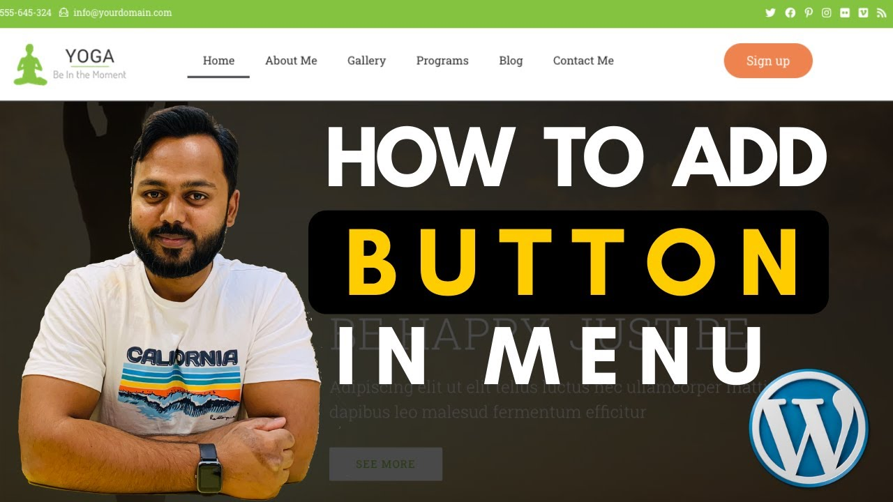 How to Add a Button in WordPress Menu with Elementor