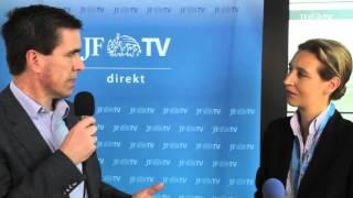 Alice Weidel und Dieter Stein (AfD-Bundesparteitag 2016)