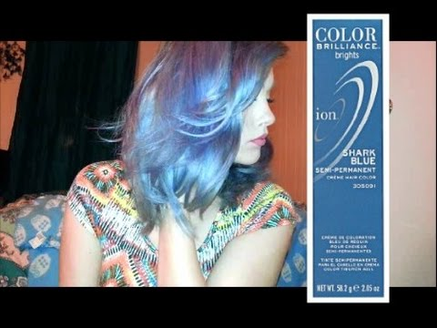 dying hair using shark blue ion color brilliance youtube
