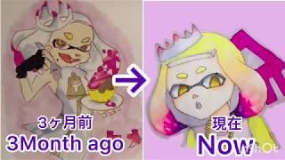 スプラトゥーンのヒメの髪の毛の描き方!How To Draw Pearl's Hair!コピックイラストメイキングcopic Illustration