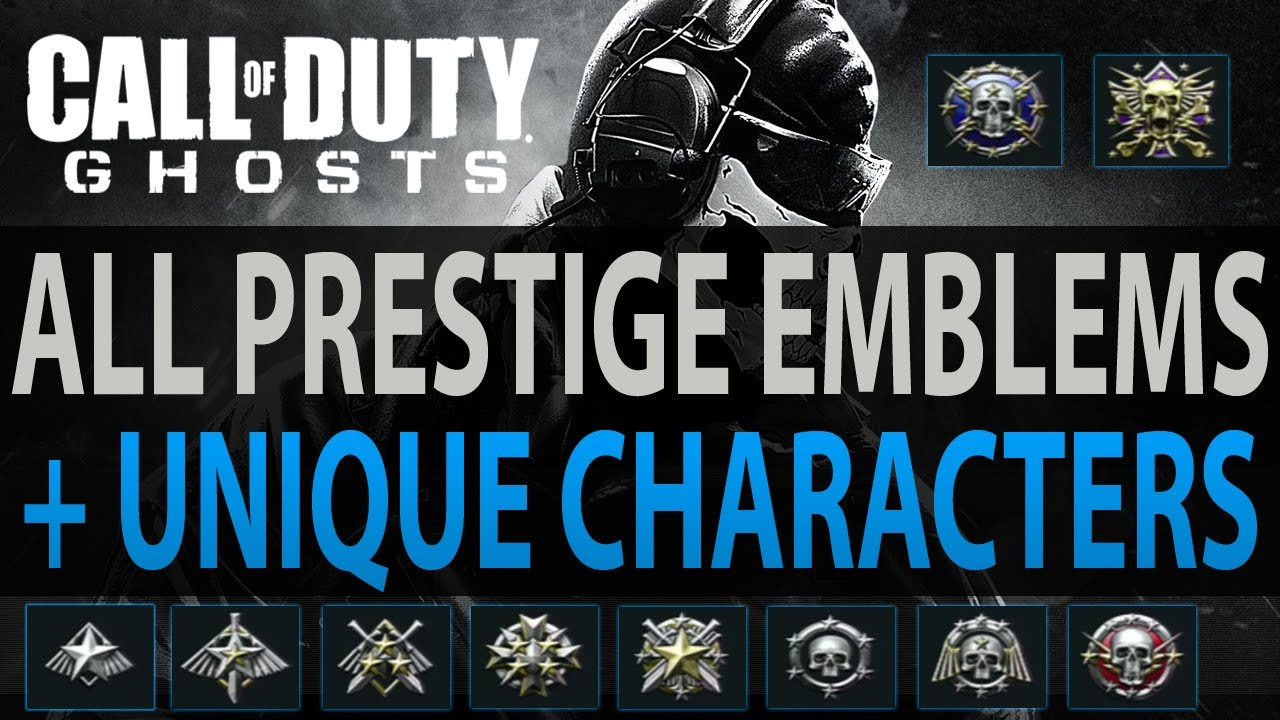 Call Of Duty Ghosts Prestige Emblems Character Loadout