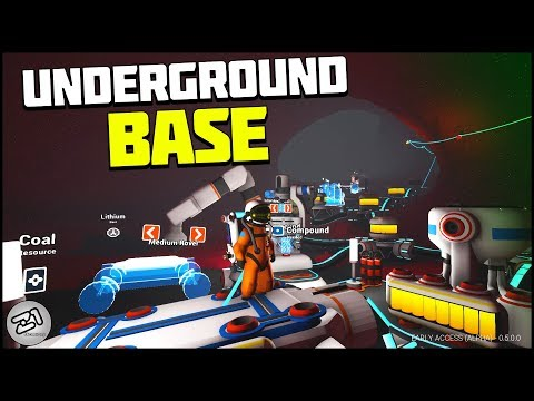 Underground Base Building! Tundra Base. E8 Lets Play Astroneer Research Update | Z1 Gaming