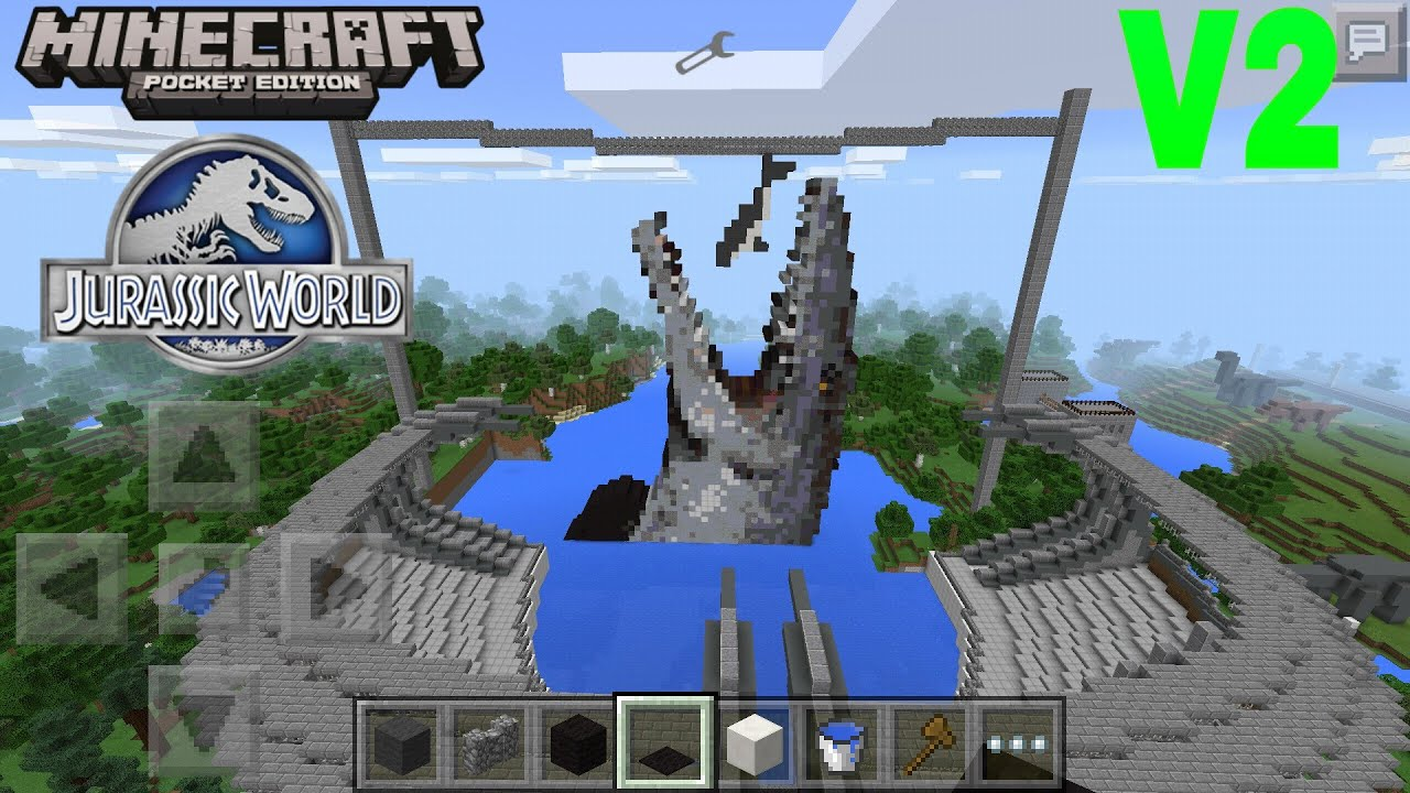 Maps for minecraft pe world map full maps jurassic world map review minecraft pocket edition youtube gumiabroncs Images