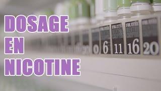 Le dosage en nicotine dans la cigarette éléctronique ?