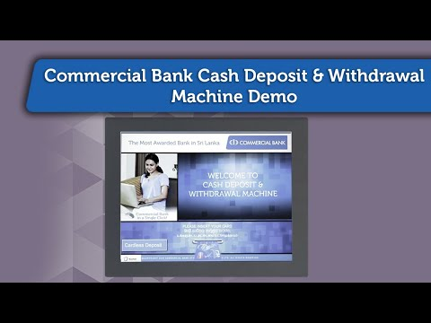 Commercial Bank Cash Deposit & Withdrawal Machine Demo - YouTube