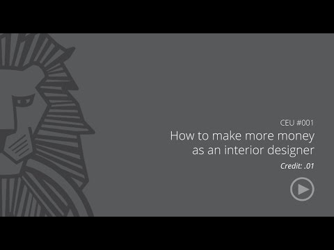 CC-104695-1000 Course: How to make more money as an interior designer