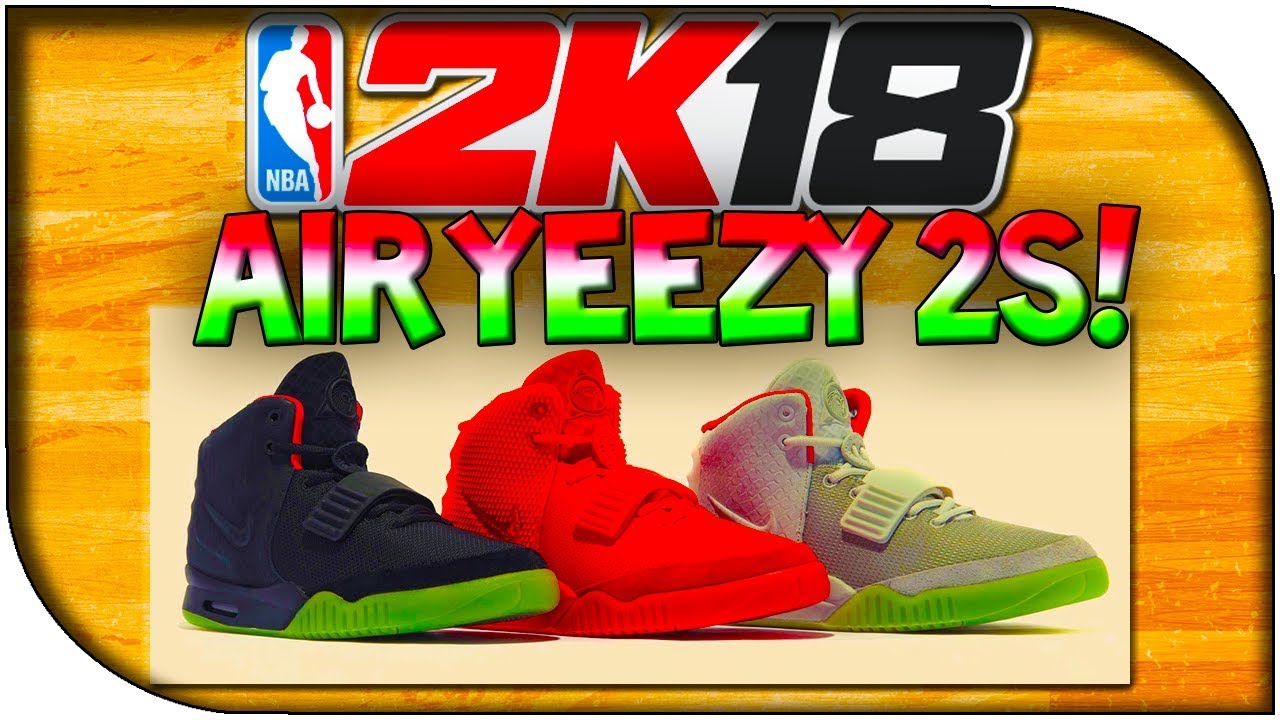 big sale 03637 eb46c NBA 2K18 - NIKE AIR YEEZY 2 SHOE CREATION!