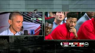 President Obama Interviewed at Bulls Game