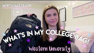 WHAT'S IN MY COLLEGE BACKPACK 2019! | Western University
