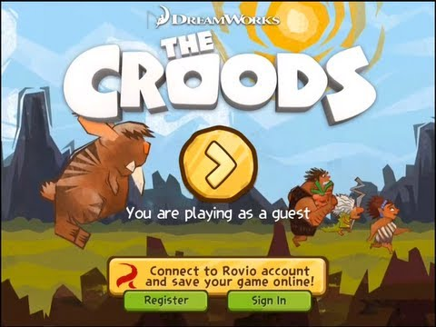 Lets Play: The Croods Game - New Gameplay Makers Of Angry Birds - Rovio First Look! IOS Iphone iPad