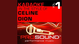 Because You Loved Me (Karaoke Instrumental Track) (In the style of Celine Dion)
