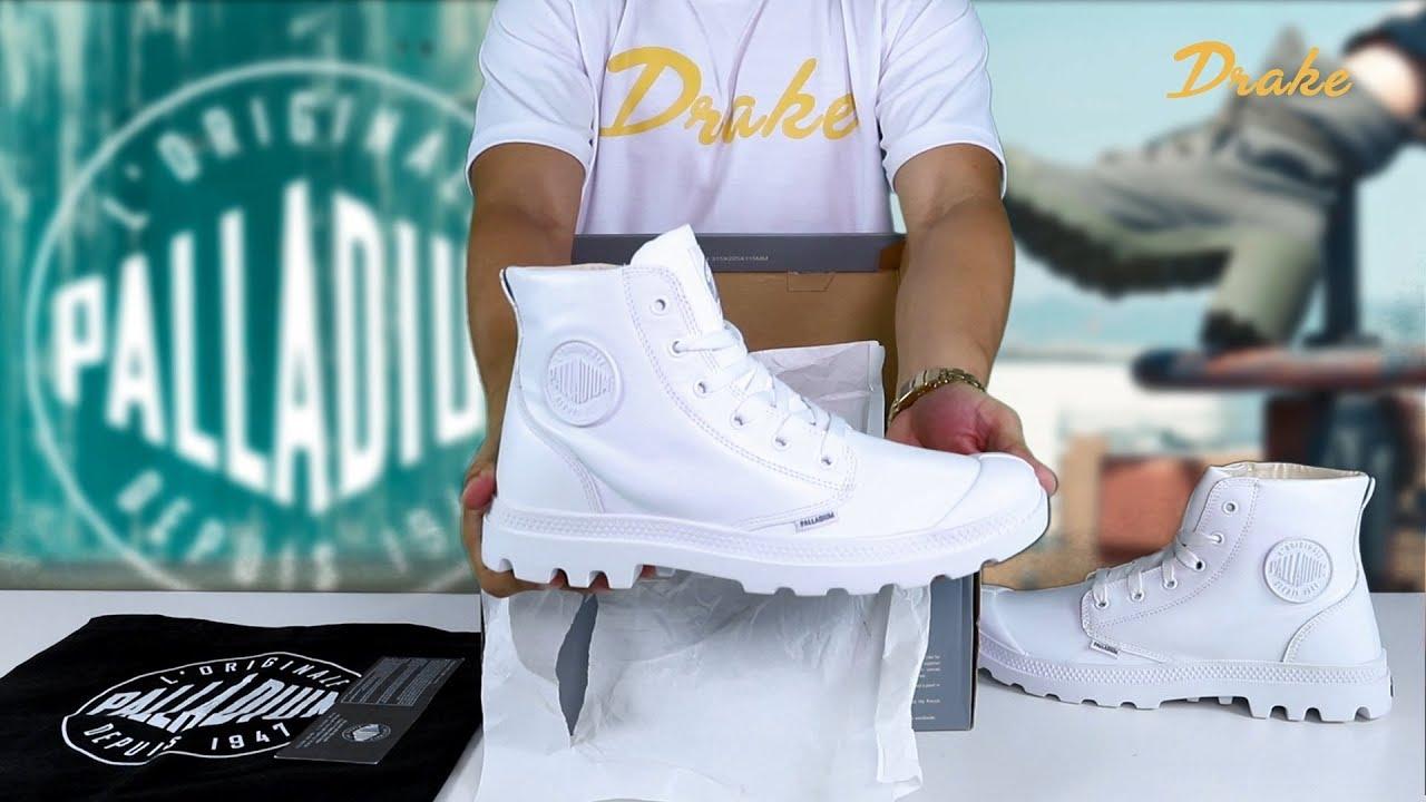 Palladium Blanc White Hi Leather Boots / Trắng Cổ Cao 72901-154