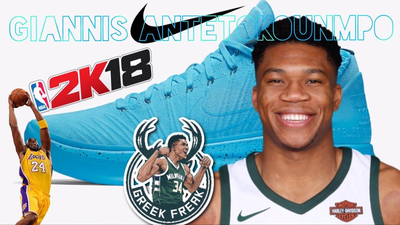 cheap for discount 25560 2cf16 NBA 2K18 Giannis Antetokounmpo Kobe A.D Mid Nike