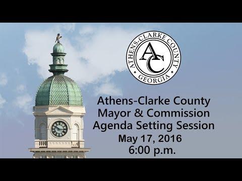 05-17-2016 Agenda Setting Session