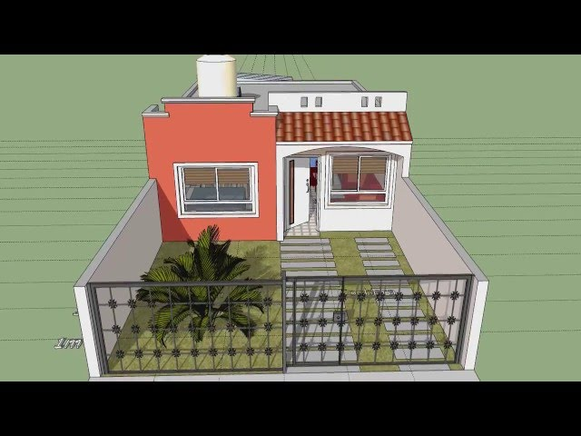 Casa de un piso lote 6x15 mts 123vid for Casa moderna minimalista interior 6m x 12 50 m