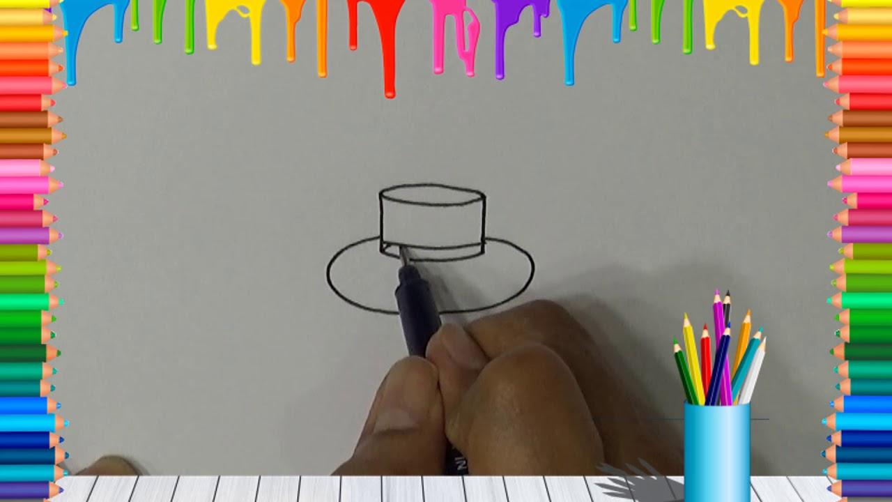 Belajar Cara Menggambar Topi Dengan Mudah Youtube