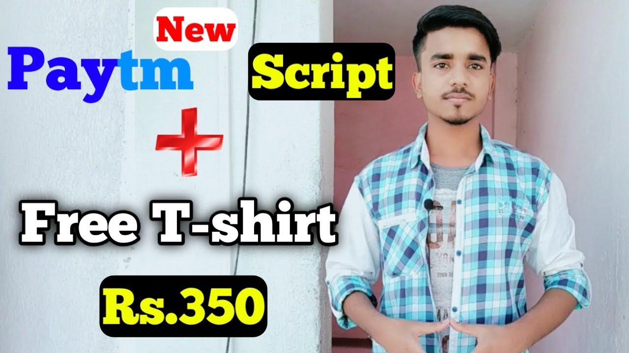 Paytm New Add Money Script || Lopscoop Unlimited Speen Trick || Free T-shirt In Spoyl