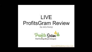 LIVE ProfitsGram Review: How To Make Money on Instagram?