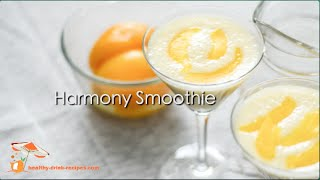 Mixed Fruit Smoothie (Peach-Pomelo-Banana) - Harmony Smoothie